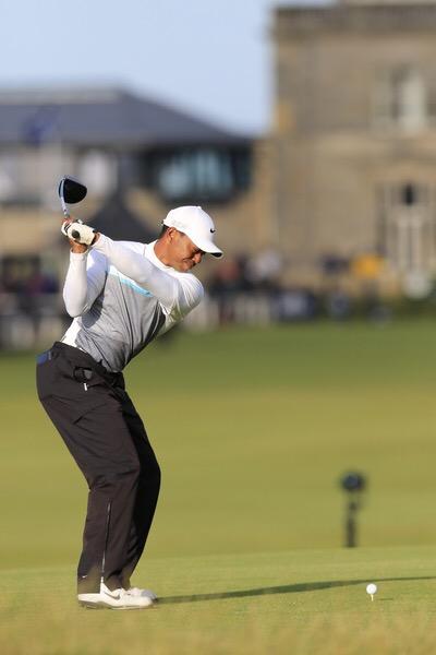Tiger Woods Backswing St Andrews Wearing Nike
